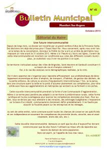 Bulletin Municipal Oct. 2013