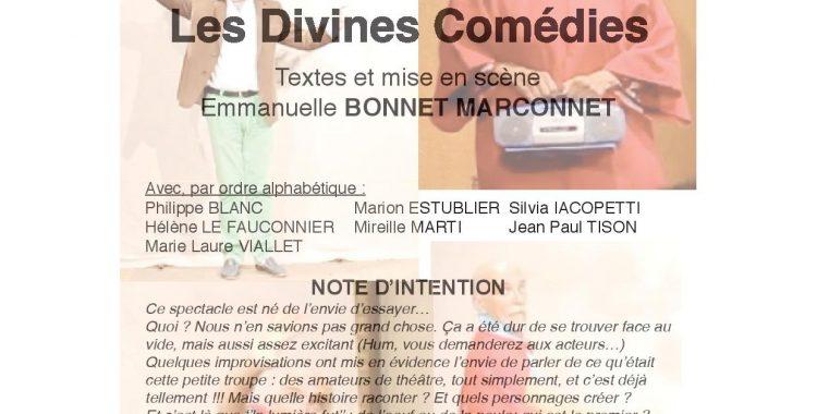 Les divines comédies le 30 mars