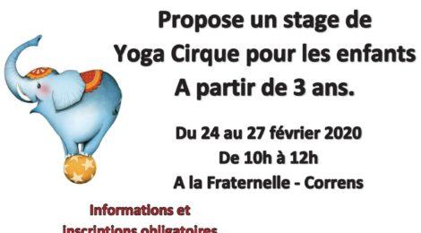 Stage de Yoga Cirque