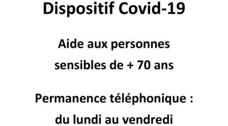 Covid-19 Aide aux personnes sensibles