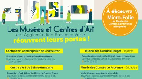 Réouverture des musées et centres d'art